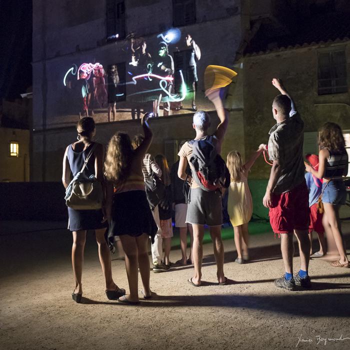 Reportage Festival Festilumi à Bonifacio
