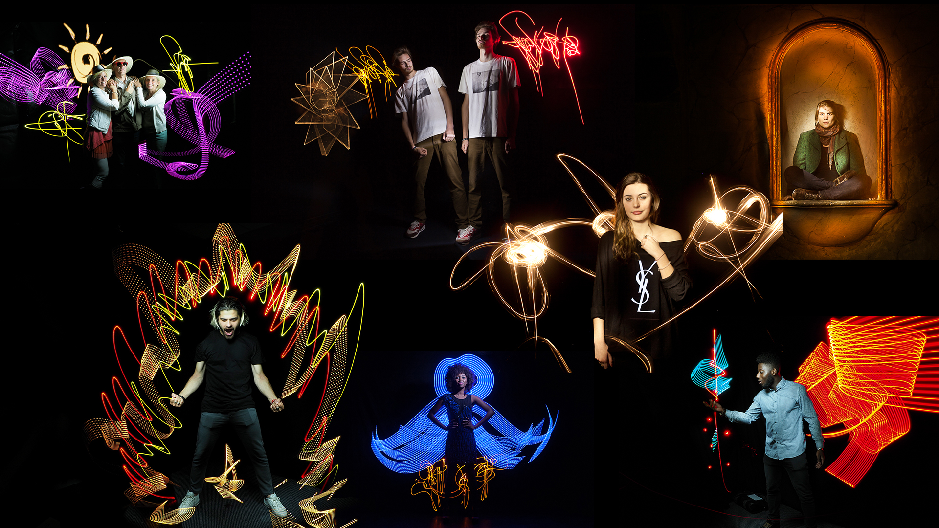 Animation portraits lightpainting